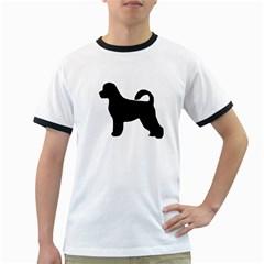 Portugese Water Dog Silhouette Men s Ringer T-shirt