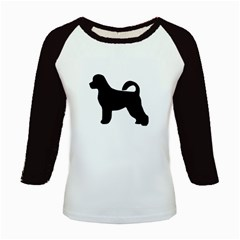 Portugese Water Dog Silhouette Kids Long Cap Sleeve T Shirt
