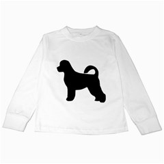 Portugese Water Dog Silhouette Kids Long Sleeve T-Shirt