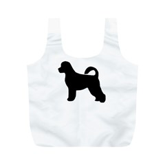 Portugese Water Dog Silhouette Reusable Bag (M)