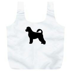 Portugese Water Dog Silhouette Reusable Bag (XL)
