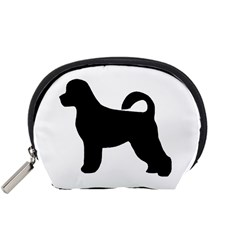 Portugese Water Dog Silhouette Accessory Pouch (Small)