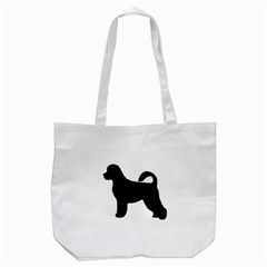 Portugese Water Dog Silhouette Tote Bag (White)