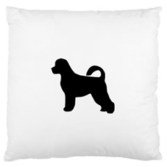 Portugese Water Dog Silhouette Large Flano Cushion Case (Two Sides)