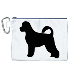 Portugese Water Dog Silhouette Canvas Cosmetic Bag (XL)