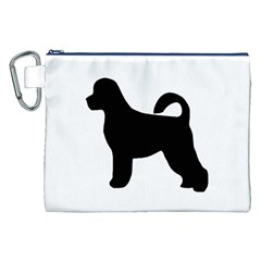 Portugese Water Dog Silhouette Canvas Cosmetic Bag (XXL)