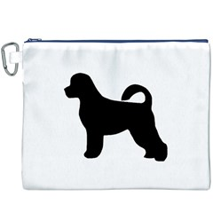 Portugese Water Dog Silhouette Canvas Cosmetic Bag (xxxl)