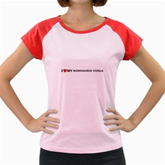 I Love My Wirehaired Vizsla Women s Cap Sleeve T-Shirt (Colored)