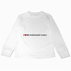 I Love My Wirehaired Vizsla Kids Long Sleeve T-Shirt