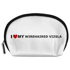 I Love My Wirehaired Vizsla Accessory Pouch (Large)