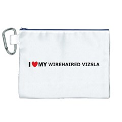 I Love My Wirehaired Vizsla Canvas Cosmetic Bag (XL)