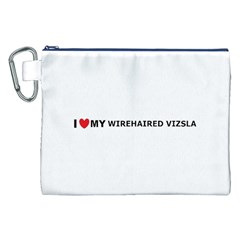 I Love My Wirehaired Vizsla Canvas Cosmetic Bag (XXL)