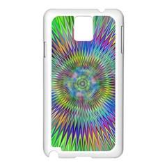 Hypnotic Star Burst Fractal Samsung Galaxy Note 3 N9005 Case (White)