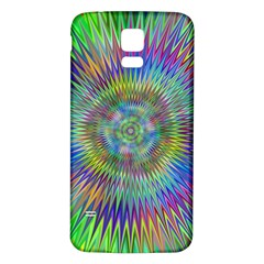Hypnotic Star Burst Fractal Samsung Galaxy S5 Back Case (White)