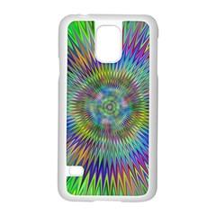 Hypnotic Star Burst Fractal Samsung Galaxy S5 Case (white)
