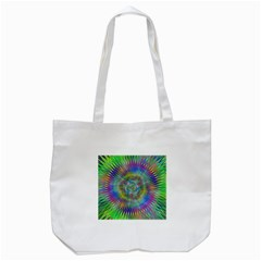 Hypnotic Star Burst Fractal Tote Bag (White)