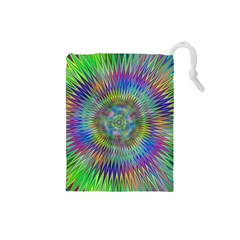 Hypnotic Star Burst Fractal Drawstring Pouch (Small)
