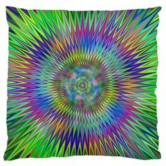 Hypnotic Star Burst Fractal Standard Flano Cushion Case (Two Sides)