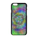 Hypnotic Star Burst Fractal Apple iPhone 6 Black Enamel Case Front