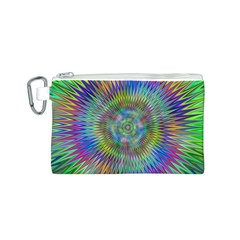 Hypnotic Star Burst Fractal Canvas Cosmetic Bag (Small)
