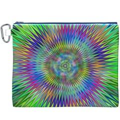 Hypnotic Star Burst Fractal Canvas Cosmetic Bag (XXXL)