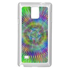 Hypnotic Star Burst Fractal Samsung Galaxy Note 4 Case (White)