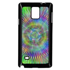 Hypnotic Star Burst Fractal Samsung Galaxy Note 4 Case (Black)