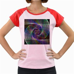 Psychedelic Spiral Women s Cap Sleeve T Shirt (colored)