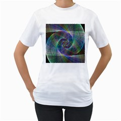 Psychedelic Spiral Women s Two-sided T-shirt (White)