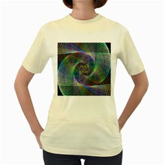 Psychedelic Spiral Women s T-shirt (Yellow)
