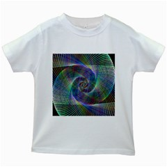 Psychedelic Spiral Kids T Shirt (white)