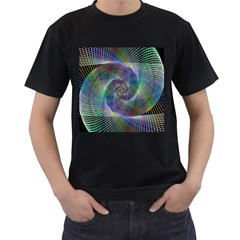Psychedelic Spiral Men s Two Sided T-shirt (Black)