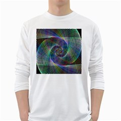 Psychedelic Spiral Men s Long Sleeve T Shirt (white)