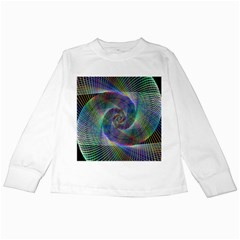 Psychedelic Spiral Kids Long Sleeve T-Shirt