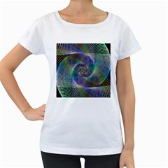 Psychedelic Spiral Women s Loose Fit T Shirt (white)