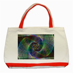 Psychedelic Spiral Classic Tote Bag (red)