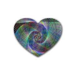 Psychedelic Spiral Drink Coasters 4 Pack (heart)