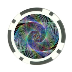 Psychedelic Spiral Poker Chip