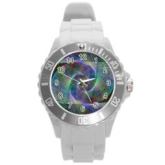 Psychedelic Spiral Plastic Sport Watch (large)