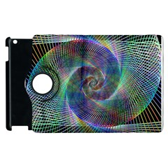 Psychedelic Spiral Apple iPad 2 Flip 360 Case