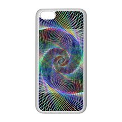 Psychedelic Spiral Apple iPhone 5C Seamless Case (White)
