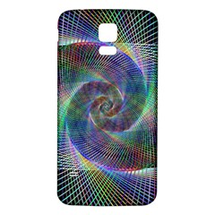 Psychedelic Spiral Samsung Galaxy S5 Back Case (White)