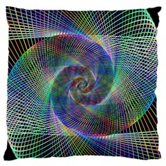 Psychedelic Spiral Large Flano Cushion Case (Two Sides)