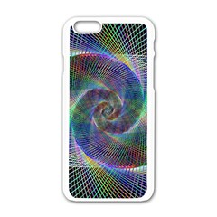 Psychedelic Spiral Apple iPhone 6 White Enamel Case
