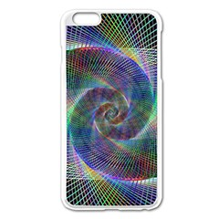 Psychedelic Spiral Apple iPhone 6 Plus Enamel White Case