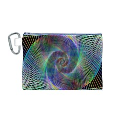Psychedelic Spiral Canvas Cosmetic Bag (Medium)