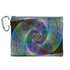 Psychedelic Spiral Canvas Cosmetic Bag (XL)