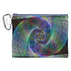 Psychedelic Spiral Canvas Cosmetic Bag (XXL)