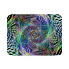Psychedelic Spiral Double Sided Flano Blanket (Mini)