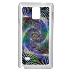Psychedelic Spiral Samsung Galaxy Note 4 Case (white)